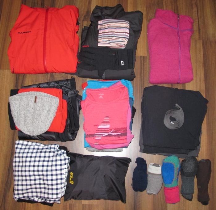 Trekking Packliste Bekleidung