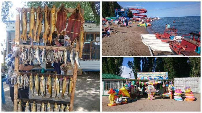 Issyk Kul Kirgistan baden Tretboote Zentralasien Wasserrutsche Reise Reiseblog